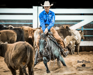 Regan Lyons and 'I'm Smooth N Blue' win the Limited Open Futurity with a 212pt run