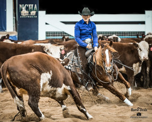 2019 Non Pro Hall of Fame inductee Lynda MacCallum and 'Get Hawky' mark a 210 in the Destination NSW Non Pro Pinnacle