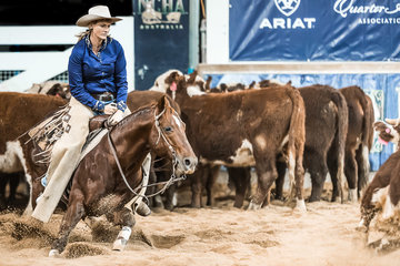 Lauren Denmead and 'Who's Top Cat' in the Destination NSW Non Pro Pinnacle
