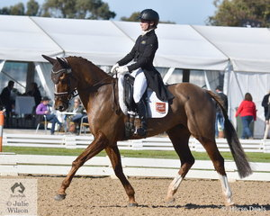 Successful NSW rider, Emma Mason rode her own and David Wright's talented AEA Metallic mare, 'Aramatai Fox' to hold seventh place in the Pryde's Easifeeds CCI4*-L on 32.30 penalties.