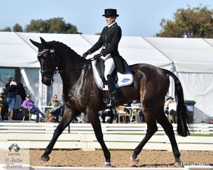 Tania Harding holds sixth place after the Pryde's Easifeeds CCI4*-L dressage phase riding her successful 'Jirrima Yorkshire'.