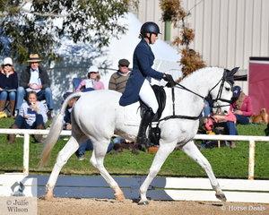 Victorian rider, Chelsea Priestley is pictured aboard Isabel O'Loughlin's well performed Purioso gelding, 'Skansen Purist' during the Pryde's Easifeeds CCI4*-L .