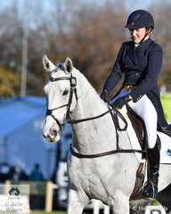 Well performed Western Australian combination, Lauren Brown and 'Sky's Da Limit', a Thoroughbred by Hurricane Sky hold tenth place after the dressage phase of the Pryde's Easifeeds CCI4*-L .