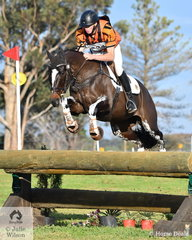 Sam Jeffree and 'Woodmount Lolita' held on to third place in the Off The Track CCI2*-L with a clear cross country run.