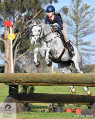 Erin Callahan and her South Australian bred, 'Danson Loncoln' hold sixth place in the Off The track CCI2*-L after  clear cross country run.