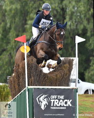 Nina Griffiths, niece of successful international eventing rider, Sam Griffiths is pictured aboard her Bellaire Cannavaro gelding, 'Mr Zizou' during their clear Off The Track CCI2*-L cross country run.