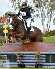 Lucy Peterson and 'Ask No More' posted a clear Off The Track CCI2*-L Junior cross country run to hold sixth place heading into the final phase tomorrow..