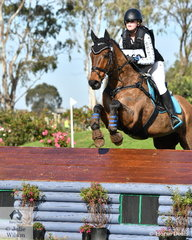 Abby Plant and her Thoroughbred gelding, 'Practice Makes Perfect' by Voodoo Rhythm are pictured during their Off The Track CCI2*-L Junior run ..
