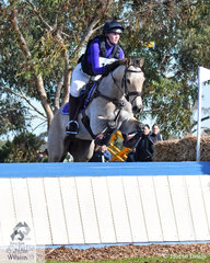 Emma Cumming from Western Australia posted a good clear round riding her Quarter Horse/Thoroughbred, 'Just Reilly' to hold on to her fourth place after the dressage phase of the Off The Track CCI2*-L Junior.