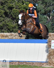NSW rider, Tilly McCarroll is pictured during the cross country phase of the Off The Track CCI2*-L Junior riding her South Australian bred, 'Kirby Park Masquerade'.