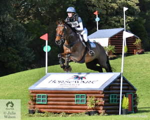 Tara Rogers and 'Denison Park Smooth' by Cyrano de Bergerac added just time penalties on their Horseware Australia CCI3* cross country run to hold eighth place heading in to the final jumping phase tomorrow.