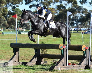 Sophie Fox and her Thoroughbred gelding, 'Mr Pig' by Commands posted one of just three Horseware Australia CCI3* cross country clear rounds. It moved them from 25th to third place.