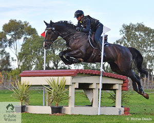 Tanya Schmidt from Queensland added just 4.4 cross country time penalties riding her APH Rocardo gelding, 'Laurentino' to move from 16th to third place in the Pryde's Easifeeds CCI4*-L.