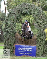 Stuart Tinney had a good day at the office today. He holds first place in the Pryde's Easifeeds CCI4*-L riding, Celebration, is fifth with his eight year old Lasino gelding, 'Leporis' (pictured) and sixth riding , Wanda.
