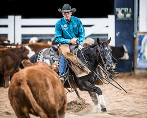 Todd Graham and 'Yulgilbar Hi Kitty' in the Final of the Open Derby