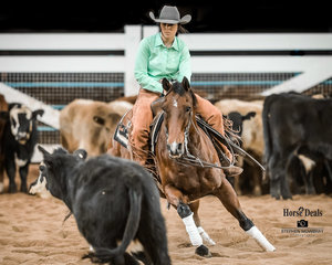 Kaitlin Smith and 2019 Hall Of Fame Horse inductee 'Tramps Destiny' tie for Reserve Champiom placing in the Senior Youth Final