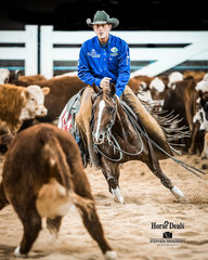 Todd Graham and 'Hellish' with a 219pt run in the Open Futurity Final