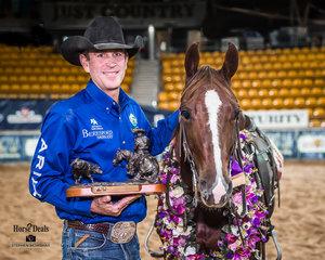 Todd Graham and 'Hellish' 2019 SDP Buffal Ranch Open Futurity Champions