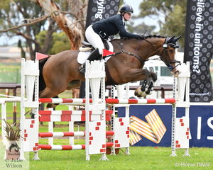 Lucy Peterson and 'Ask No More' only added four jumping pealties to finish the Off The Track CCI2*-L Junior in fourth place.