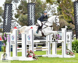With the addition of one showjumping rail and 1.6 time penalties, Zoe Hutchinson and 'War Hawk' took seventh place in the Off The Track CCI2*-L Junior.