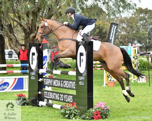 Charlie Richardson, daughter of eventing internationals, Nikki (Bishop) Richardson and Blair Richardson took ninth place in the Off The Track CCI2*-L Junior.