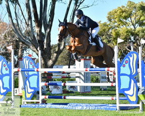 Rebecca Barling and her Thoroughbred, 'On Your Mark' by Kings Best added just four showjumping penalties to their dressage score to take tenth place in the Horseware Australia CCI3*-L.