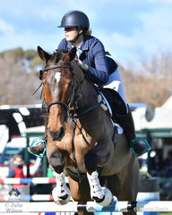 Sheridan Wilson and her 'Artane Murphy' by Isle of Aspen took eighth place in the Horseware Australia CCI3*-L .