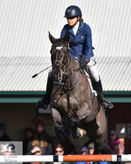 Sarah Clark and her Balou du Rouet gelding, 'LV Balou Jeanz' took tenth place in the Pryde's Easifeed CCI4*-L.