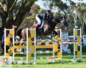 Tanya Schmidt from Queensland took fifth place in the Pryde's Easifeed CCI4*-L riding her APH Rocardo gelding, 'Laurentino'.