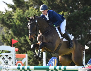 Simon Tainsh and his Thoroughbred, 'Punching A Dream' by Econsul took eighth place in the Pryde's Easifeed CCI4*-L.
