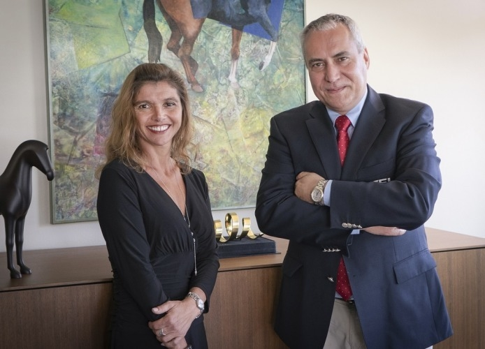 FEI President Ingmar De Vos with JustWorld International Founder and President Jessica Newman.  (FEI)