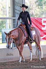 Kasey Wyse rode Some Will Some Wont into first place in both the Senior Youth Western Pleasure & Western Horsemanship events