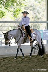 Glenys Ham & YLS Stop N Stare were the second place getters in the Select Amateur Western Pleasure