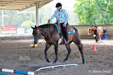 Very successful in all the RWD (riding with disabilities) classes was Wendy Brittain aboard her gelding, Radical Rascal