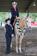 The Champion of the All Age Ranch Riding Spectacular Jackpot Feature was So Good Too Be Cool ridden by Brianna Miller who was to take home the buckle for High Point Senior Youth of the show