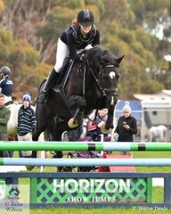 Ayla Hand representing Mornington Secondary rode 'Diverbrook Casino's' to win the Level 4 Progressive Two Phase at the EQ Saddleworld VEIS Qualifying Round 8 and Grand Final.
