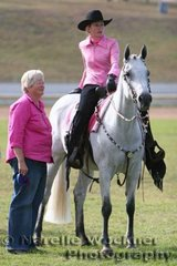 Two girls in pink Gail Webster & Veronica Mortimer share a moment between classes with their 'Stapylton Park D'Aliiance'