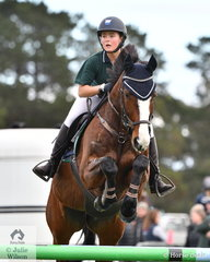 Olivia Batten from The Geelong College rode 'Boulevard II' to 6th place in the Level 6 Advanced Art. 238.2.1.
