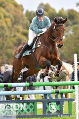 Emma Sampson from Geelong Grammar School rode 'Alfresco NZ' to sixth place in the Level 5 Intermediate Art. 238.2.1.