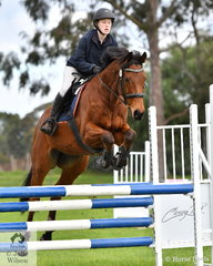 Sophie Melbourne from Toorak College rode 'JP Benneto' in the Level 5 Intermediate Art. 238.2.1. Today each rider had a one round class plus a three round Grand Prix.