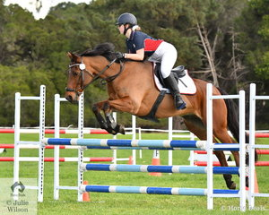 Jordyn Treasure from St Margaret's School rode 'Kilroe Image' to win the Level 4 Progressive Grand Prix.