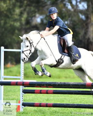 William Tucker from 'Salesian College' rode Blue Illusion to fifth place in the Level 3 Improvers Grand Prix.