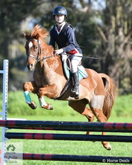 Leonora Turner from Christian College Geelong rode 'Marshall Artz' to second place in the Level 3 Improvers Grand Prix.