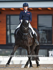 """""""Gandaway"""" ridden by Meagan-lee Black in the Prix St George"""