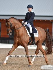 """Balzac"" ridden by Sue West winners in the in the Intermediate B with a score of 63.750%"