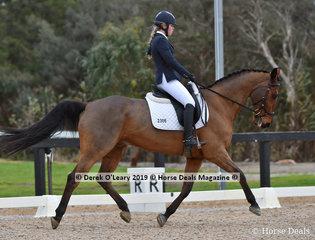 """""""Aea Milan"""" ridden by Harriette Stinchcombe"""