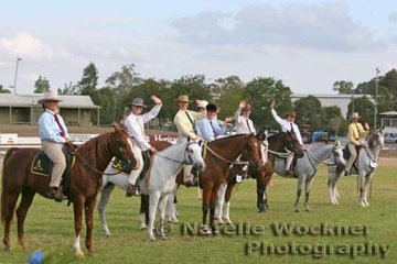 Great lineup of riders & horses in the Australian Horsemanship class were happy to give a wave for the Horse Deals photographer