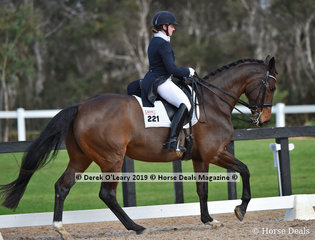 Revelwood Fleur ridden by Abbie O'brien in the Advanced 5B, placed 4th in the Big Tour Championship
