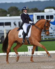 """""""Captain Cooks"""" ridden by Pauline Carnovale in the Grand Prix"""