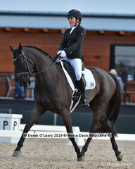 """""""Freedom R"""" ridden by Jane Gordon placed 3rd in the Medium Championship"""